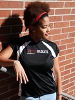 Ladies Central Wildcats Vneck Volleyball Tee